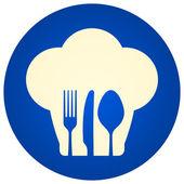 Blue Chef Hat Symbol — Stock Vector