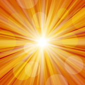 Sunlight with Lens Flare — Stock Photo