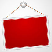 Red Sign Board — Stock Vector