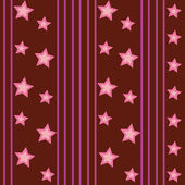 Funky Stars Pattern — Stockvector
