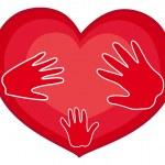 Hands on Heart — Stock Vector