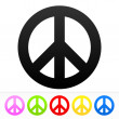 Hippie Peace Symbol — Stock Vector #51331933