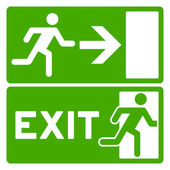 Green Exit Symbol — Stock Vector