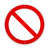 Blank Forbidden Sign — Stock Vector
