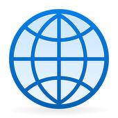 Símbolo de globo — Vector de stock