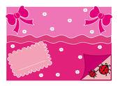 Greeting Card Illustration — Stock Vector