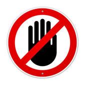 Stop-Hand-symbol — Stockvektor