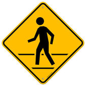 Pedestrian Traffic Sign — Vettoriale Stock
