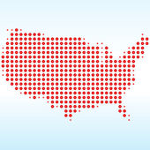 USA Dotted Map — Stock Photo