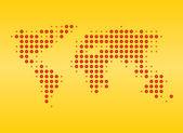 Ilustración de mapa de mundo — Foto de Stock