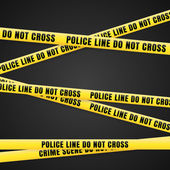 Criminal Scene Yellow Line — Stock Photo