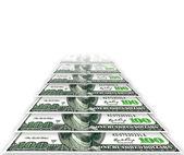 USA one hundred dollars isolated on white — Stock Photo