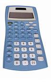 Old blue calculator — Stok fotoğraf