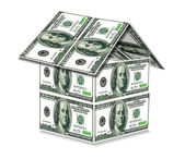 House from dollars — Stock Photo