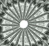 One hundred USA dollars turn around — Stock Photo