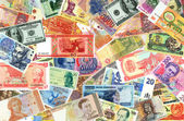 Bank-papers of the world of different times. — Stock Photo