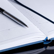 Notebook and pen in composition close up — Stock Photo