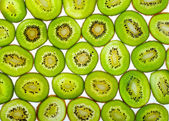 Abstract photo of a green kiwi fruit — Stock Photo