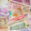 Colorful World Paper Money background - Foto Stock
