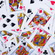 Background made of playing cards - Stock Photo
