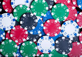 Playing Poker Chips background — Stock Photo