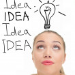 Young lady with ideas - Stock Photo