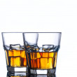 Scotch whiskey and ice — Stock Photo