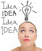 Young lady with ideas — Stock Photo