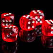 Red dices — Stock Photo #24484665