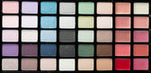 Make up palette of colorful eyeshadow — Stock Photo