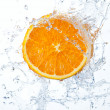 Orange in water splash — Stock Photo #25564953