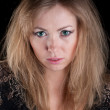 Portrait of young beautiful caucasian — Stockfoto