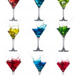 Alcoholic cocktail set splash — Stock Photo #28041525