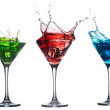 Stock Photo: Alcoholic cocktail set splash