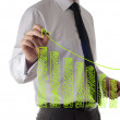 Male hand drawing a graph — Stock Photo