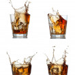 Stock Photo: Whisky splash