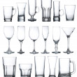 Collage of various glasses — Stock Photo