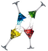 Set of different alcoholic cocktails - martini — Stock Photo