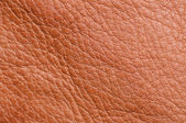 Brown leather texture up close — Stock Photo