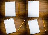 Black notebook with pencile — Stock Photo