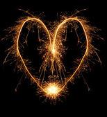 Fire heart — Stock Photo