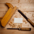 Carpentry tools on wooden background — Stock Photo #40240267