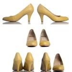 Yellow high heel women shoes — Stock Photo #48675869