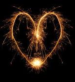 Płonące serce — Zdjęcie stockowe