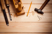 Carpentry tools — Stock Photo
