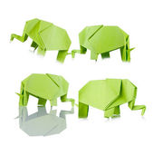 Origami of elephants — Foto Stock