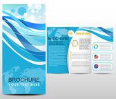 Blue design template — Stock Vector