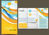 Vector Brochure Layout — Stock Vector