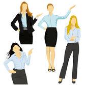 Business women — Stock Vector