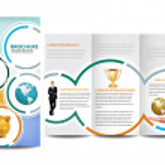 Circle Brochure — Stock Vector